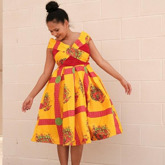 b8a5c7dc33d Women African dress off shoulder Ankara dress